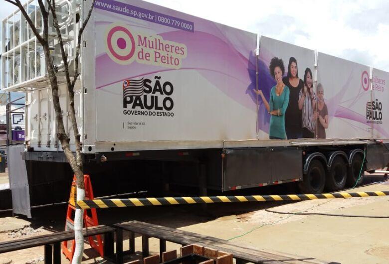 Carreta da mamografia fará mutirão de exames em São Carlos