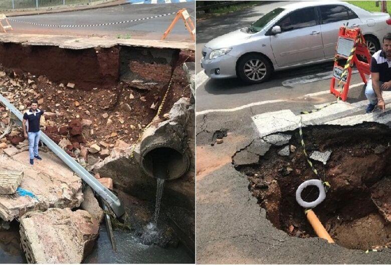 Rodson faz apelo à Prefeitura para conserto de cratera na rua São Paulo com a Alfredo Maffei
