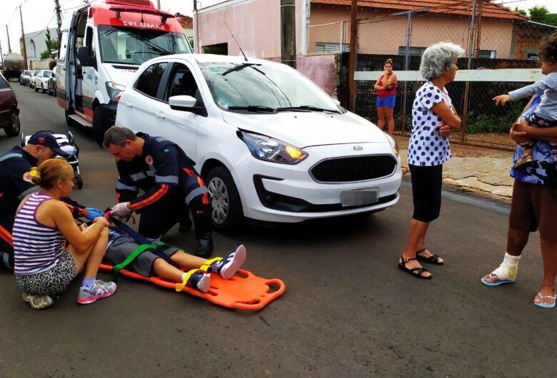 Menino de 7 anos é atropelado na Vila Lutfala