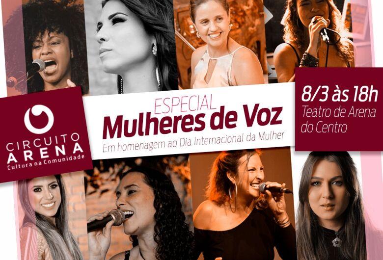 Sábado tem Regina Dias no Teatro Municipal e domingo Circuito Arena Especial