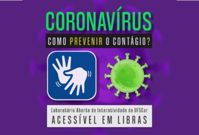 Laboratório de divulgação científica da UFSCar produz material sobre prevenção da Covid-19 em Libras