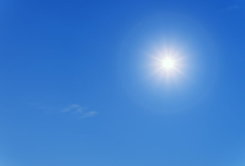 Final de semana será com céu ensolarado e temperaturas amenas