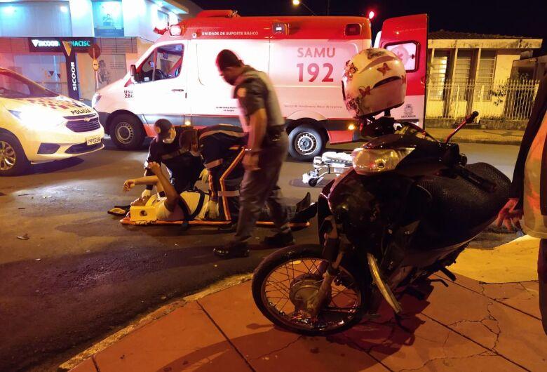 Motociclista na contramão se envolve em grave acidente na Vila Prado