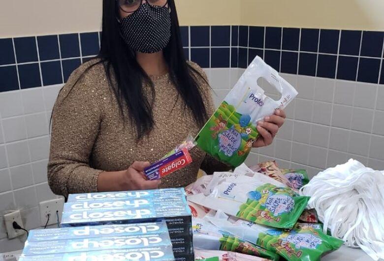Governo do Estado repasse kits de higiene bucal ao Programa 'Criança Feliz' de Ibaté