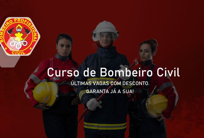 Abertas inscrições para os cursos de bombeiro civil, APH e Resgate e Normas Regulamentadoras (NRs). Confira