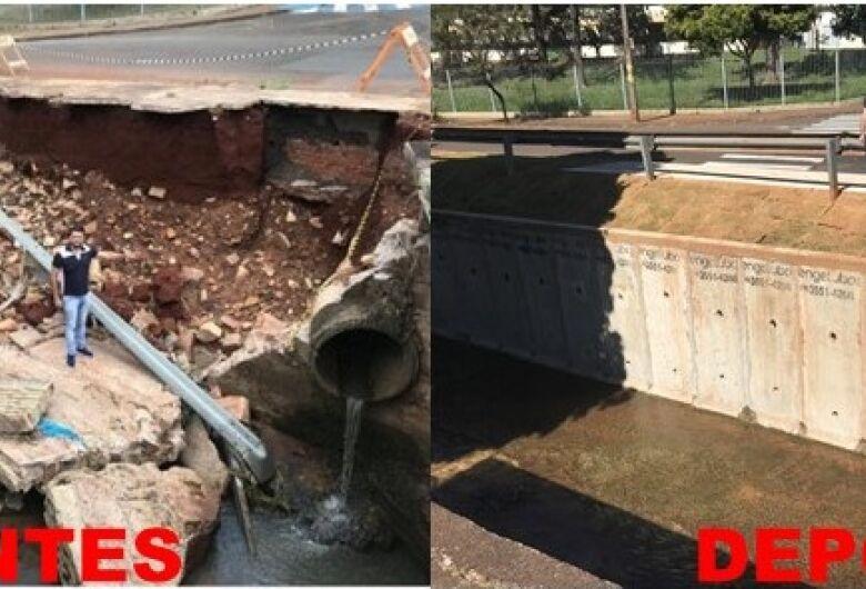 Vereador Rodson visita conclusão das obras de contenção do leito do Córrego Gregório