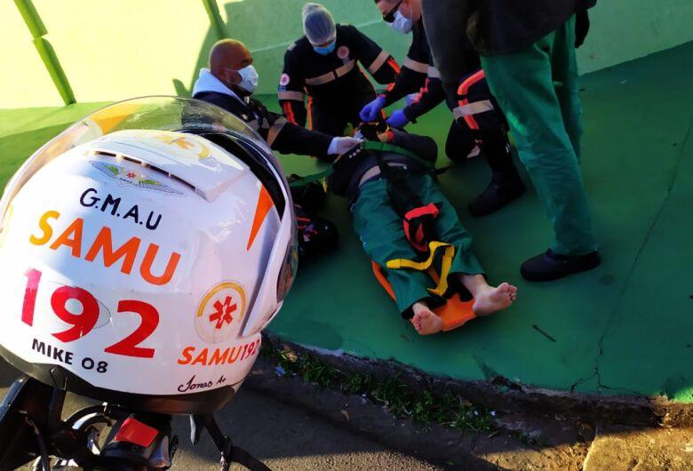 Entregador de gás é vítima de acidente na Lagoa Serena