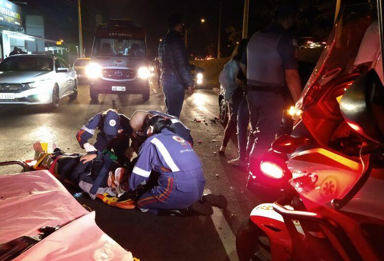 Motociclista sofre acidente na Miguel Petroni