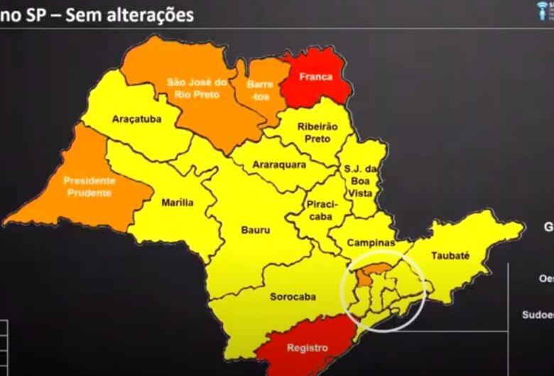 São Carlos continua na fase amarela do Plano São Paulo