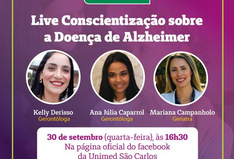 Unimed São Carlos realiza live de Conscientização sobre a Doença de Alzheimer