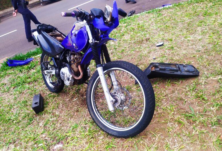 Guarda Municipal sofre acidente de moto na região do Moradas