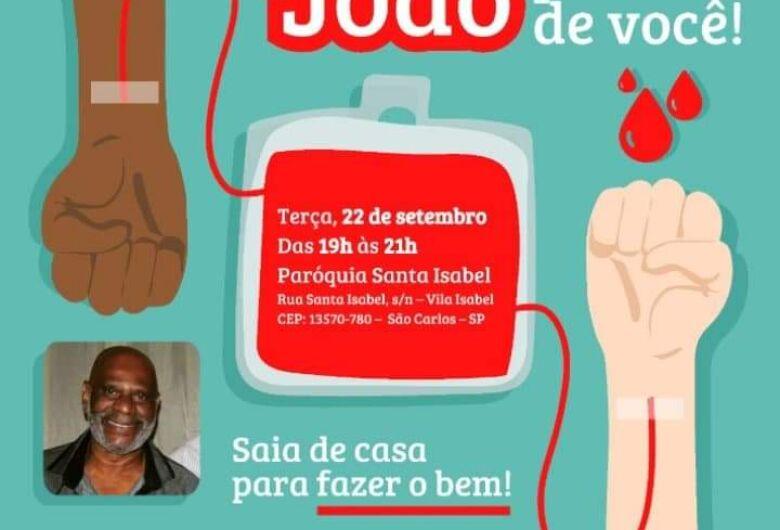 Campanha busca doadores de sangue para são-carlense que está internado em hospital de Jaú