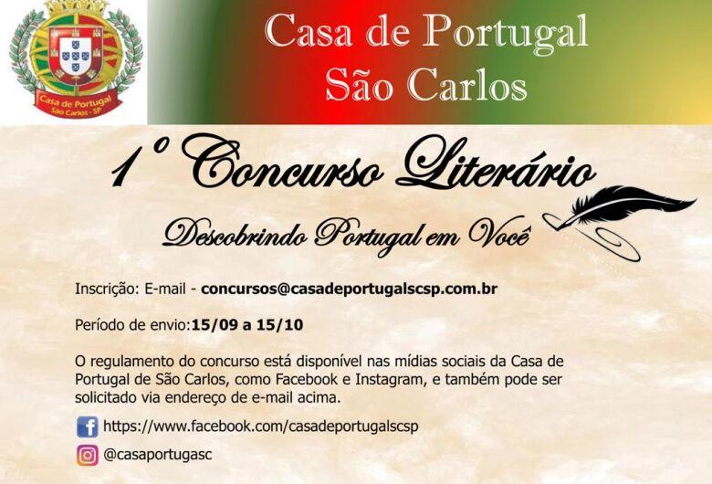 """Casa de Portugal de São Carlos organiza """"1º Concurso Literário"""""""