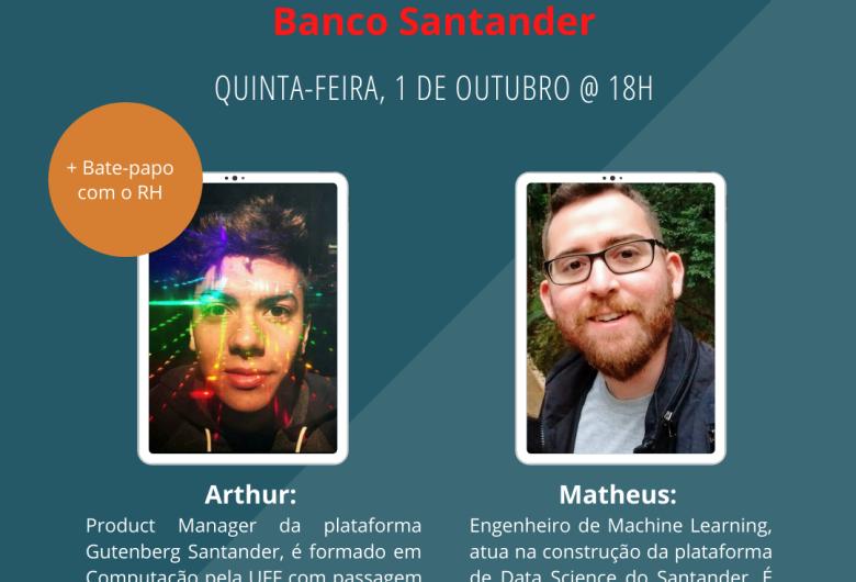 """IFSP São Carlos realizará live sobre """"Carreiras em Tecnologia"""" em parceria com o Santander"""