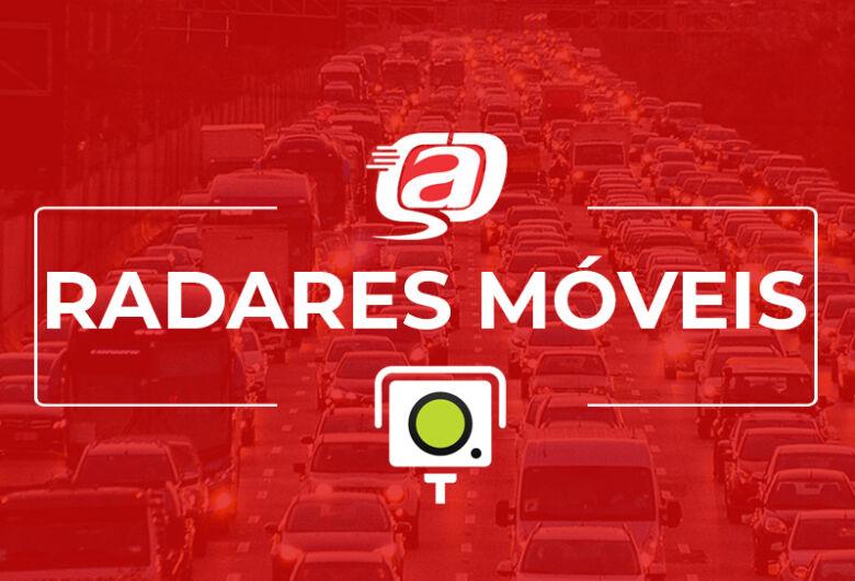 Confira a localização dos radares móveis nesta quarta-feira (23)