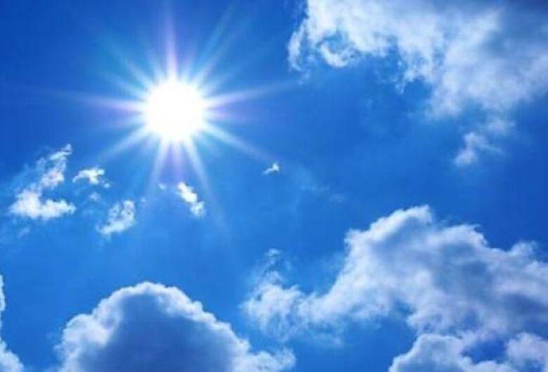Final de semana será de sol e calor