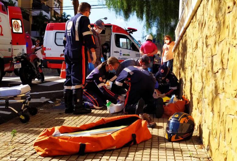 Casal sofre grave acidente no centro de São Carlos
