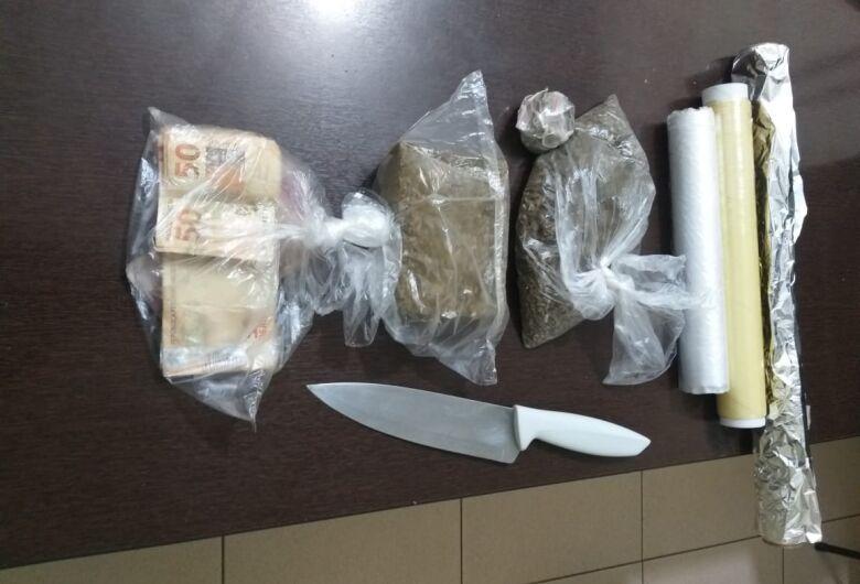 Polícia Militar localiza drogas em casa no Jardim Pacaembu