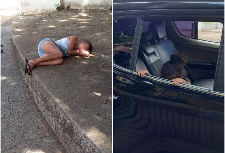 Mãe dorme na calçada e deixa menina de dois anos seminua e desprotegida na Vila Prado