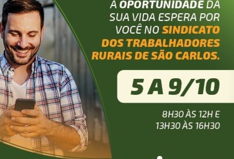 Emprego Rural está em São Carlos e oferece benefícios e descontos exclusivos para candidatos