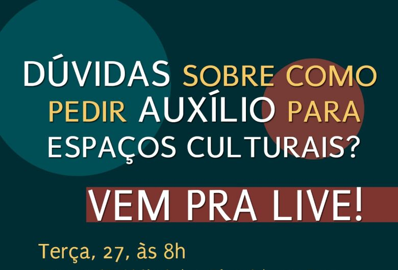"""Fórum Cultura na Pauta e Cemac realizam """"live"""" tira dúvidas nesta terça-feira"""