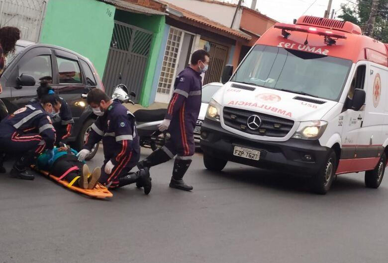 Moto atropela idosa na Avenida Morumbi