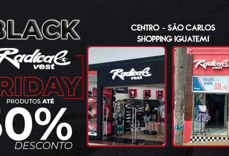 Radical Vest vende camisetas a R$ 19,99 e calças a R$ 69,99 durante a Black Friday