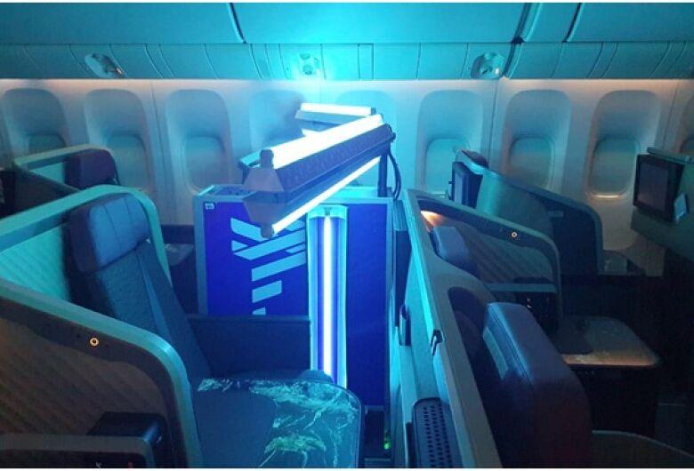 LATAM cria tecnologia com Luz Ultra Violeta (UV - C) para higienização de aeronaves com o apoio técnico-científico dos pesquisadores do Instituto de Físicade São Carlos – CEPOF – USP