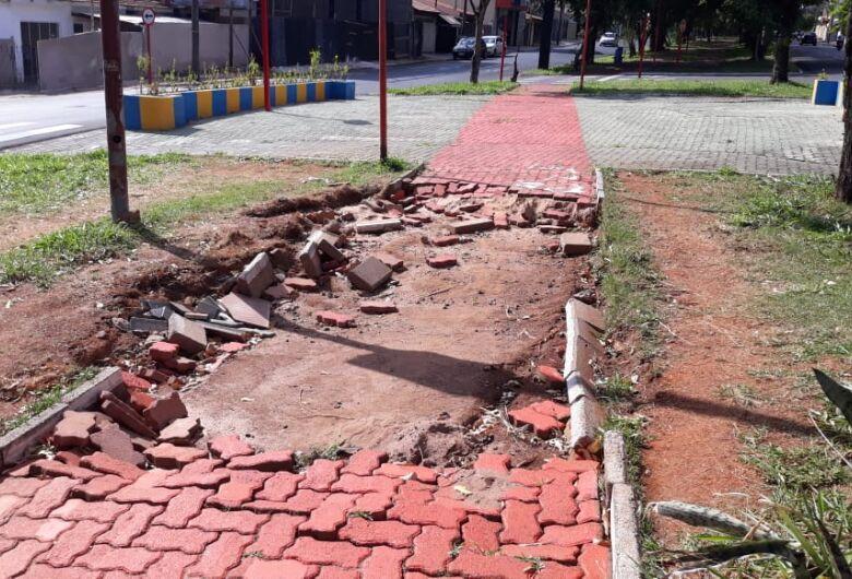 Sérgio Rocha  quer conserto da pista de caminhada e ciclovia na Avenida Henrique Gregori