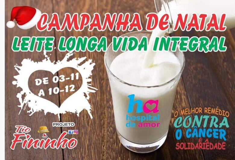 Campanha de Natal pretende arrecadar leite integral para o Hospital de Amor