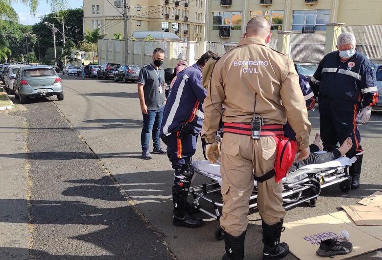 Colisão no Passeio dos Ipês deixa motociclista ferido