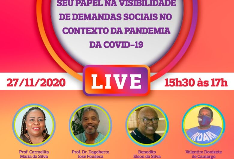 Movimento Negro e seu Papel na Visibilidade de Demandas Sociais no Contexto da Pandemia é tema de live