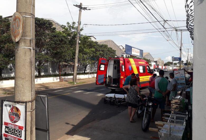 Motociclista fica ferido após acidente no Cruzeiro do Sul