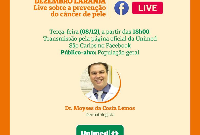 Unimed São Carlos realiza live sobre o Dezembro Laranja