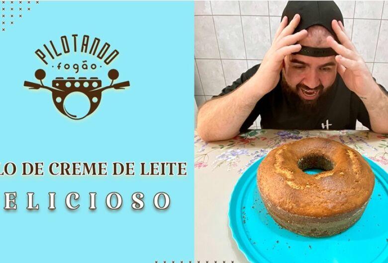 Vinicius Holmo ensina a fazer um delicioso bolo de creme de leite