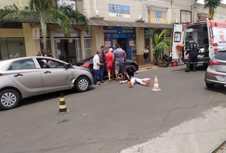 Motoboy fica ferido após colisão no Santa Felícia