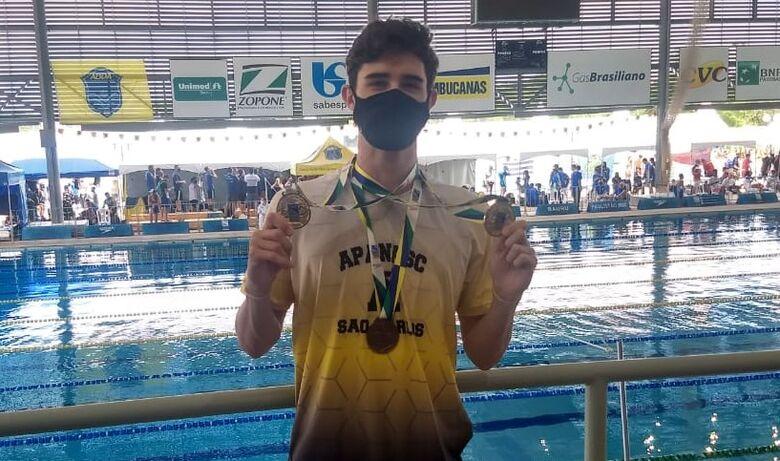 São-carlense encerra 2020 com o título de campeão paulista de natação - Crédito: Divulgação