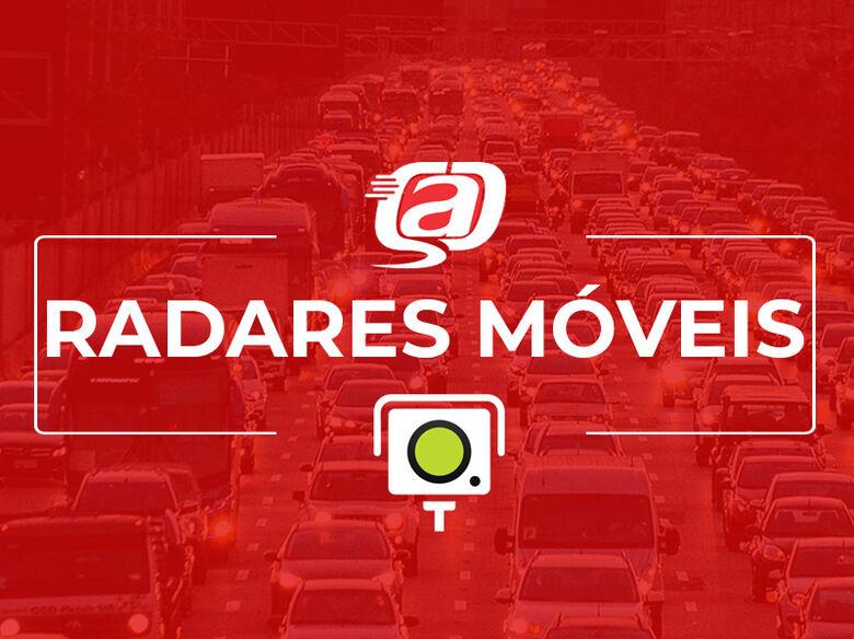 Localização dos radares móveis nesta quarta-feira (13) -