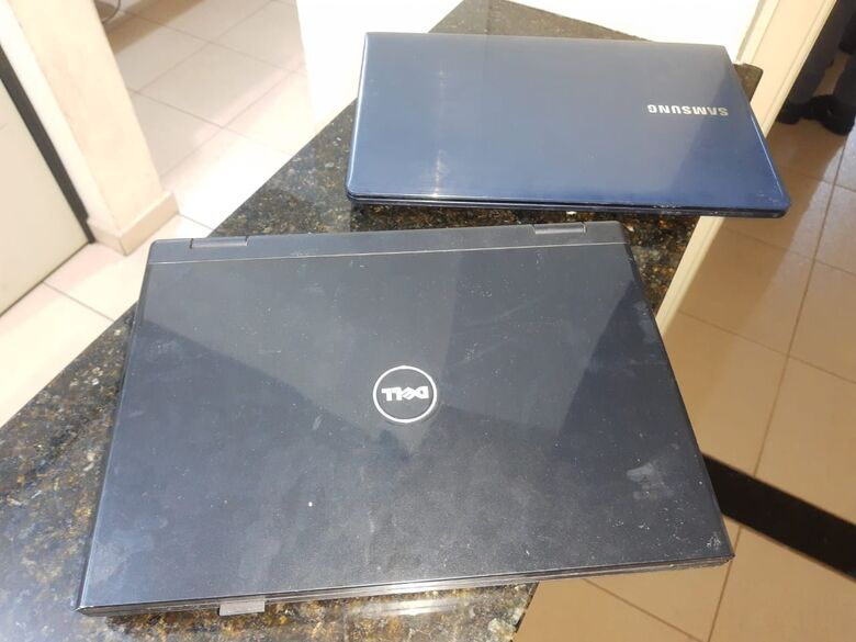 Notebooks furtados foram recuperados - Crédito: divulgação/PM