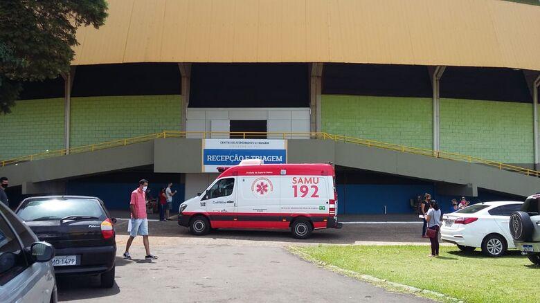Centro de Atendimento e Triagem de Síndrome Gripal instalado no Milton Olaio - Crédito: Whatsapp SCA - 99963-6036