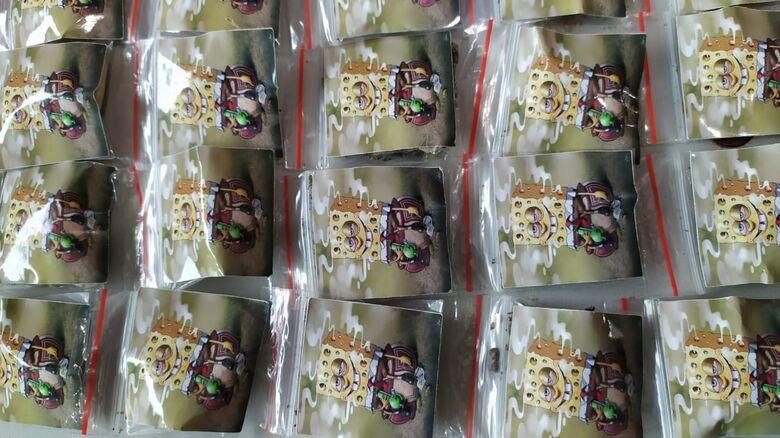 Embalagens trazem a figura do personagem infantil Bob Esponja - Crédito: Maycon Maximino