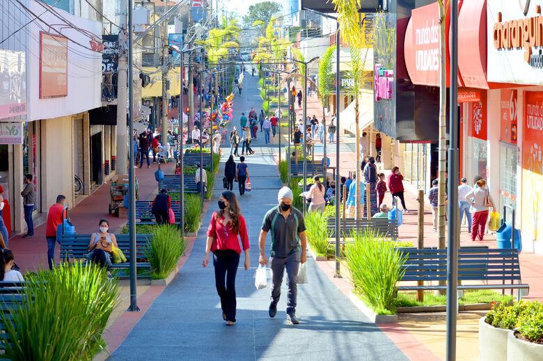 Calçadão de São Carlos - Crédito: arquivo pessoal