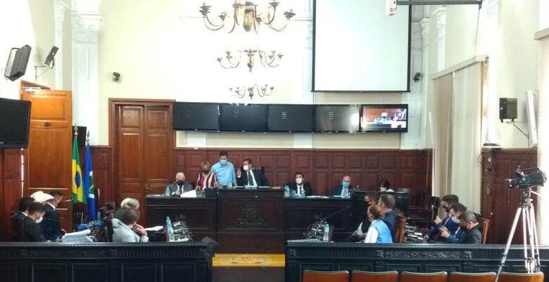 Plenário da Câmara Municipal durante a primeira sessão da Legislatura - Crédito: Divulgação
