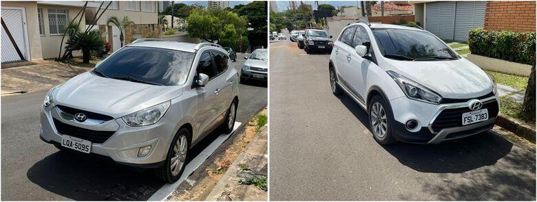 Carros que foram financiados em nome do aposentado foram apreendidos - Crédito: divulgação/Polícia Militar