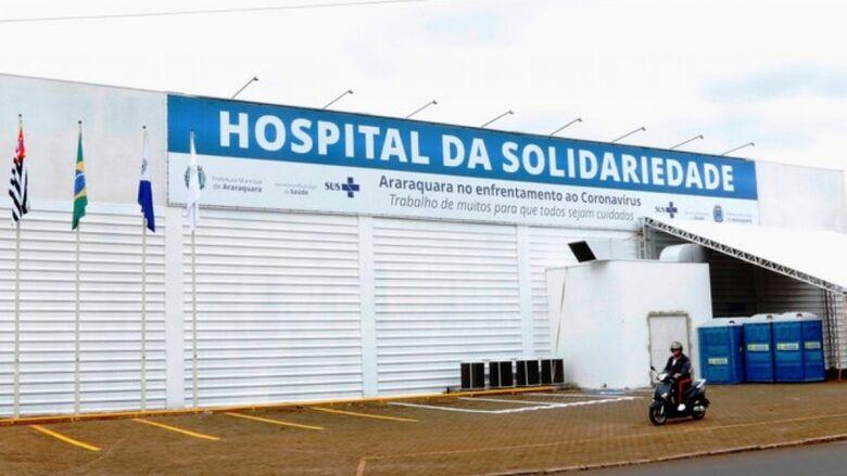 Hospital da Solidariedade que atende pacientes com Covid-19 em Araraquara - Crédito: divulgação