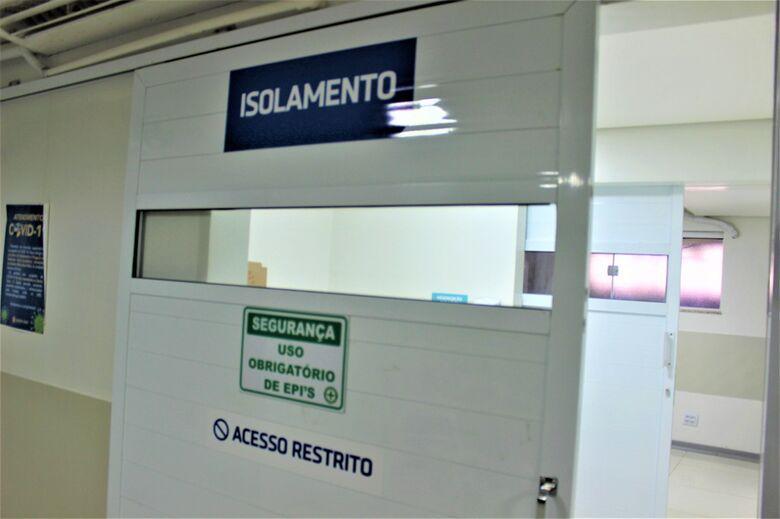 Área de isolamento para pacientes com Covid na Santa Casa - Crédito: divulgação
