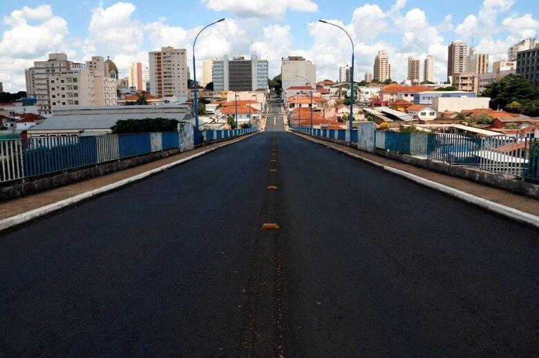 Rua vazia durante Lockdown em Araraquara - Crédito: Prefeitura Municipal