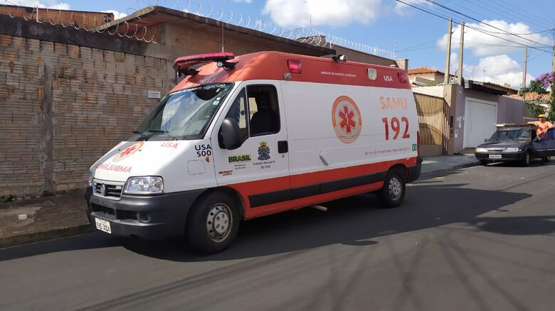 USA encaminhou vítima de queda à Santa Casa - Crédito: Maycon Maximino