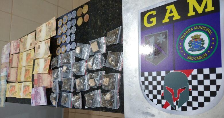 A droga que estava em poder dos adolescentes - Crédito: Divulgação