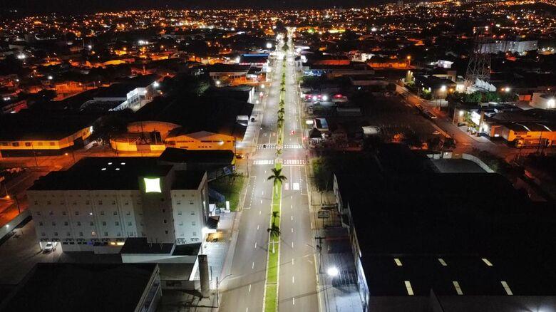 Nova iluminação irá gerar maior economia no consumo de energia elétrica - Crédito: Divulgação